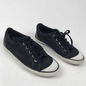 Coach 7.5B Logo Lace Up Low Top Sneakers Shoes